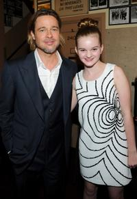 Brad Pitt and Kerris Dorsey at the California premiere of