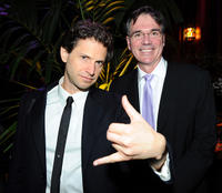 Director Bennett Miller and Billy Beane at the California premiere of