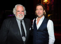 Vice Chairman Sony Entertainment Jeff Blake and Brad Pitt at the California premiere of