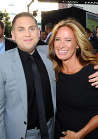 Jonah Hill and producer Rachael Horovitz at the California premiere of