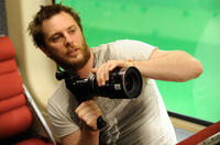 Director Duncan Jones on the set of