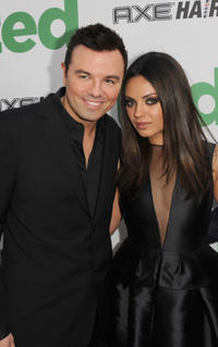 Writer/director Seth MacFarlane and Mila Kunis at the California premiere of