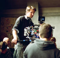 Director Tom Hooper on set of