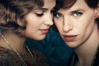 Alicia Vikander as Gerda Wegener and Eddie Redmayne as Lili in