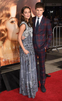 Alicia Vikander and Eddie Redmayne at the California premiere of