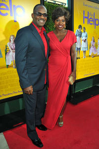 Julius Tennon and Viola Davis at the California premiere of