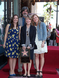 Sissy Spacek and Schuyler Fisk at the Hollywood Walk of Fame Ceremony honoring with a star to Sissy Spacek in California.