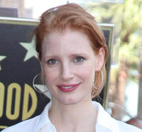 Jessica Chastain at the Hollywood Walk of Fame Ceremony honoring with a star to Sissy Spacek in California.