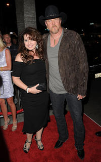 Rhonda Adkins and Trace Adkins at the California premiere of