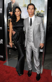 Camila Alves and Matthew McConaughey at the California premiere of