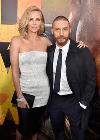Charlize Theron and Tom Hardy at the California premiere of