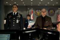 Harry J. Lennix as General Swanick, Christina Wren as Major Carrie Farris and Richard Schiff as Dr. Emil Hamilton in