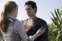 Amy Adams as Lois Lane and Henry Cavill as Superman in