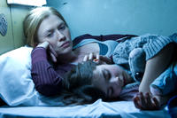 Mireille Enos as Karin Lane and Sterling Jerins as Constance Lane in