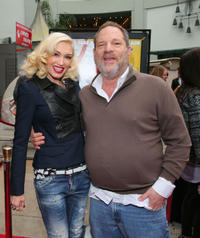 Gwen Stefani and Harvey Weinstein at the California premiere of