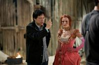Director Sngmoo Lee and Kate Bosworth on the set of