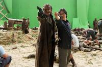 Danny Huston and director Sngmoo Lee on the set of