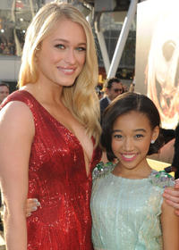 Leven Rambin and Amandla Stenberg at the California premiere of