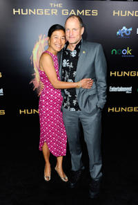 Laura Louie and Woody Harrelson at the California premiere of