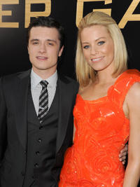 Josh Hutcherson and Elizabeth Banks at the California premiere of