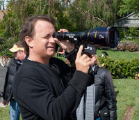 Tom Hanks on the set of