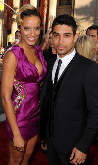 Selita Ebanks and Wilmer Valderrama at the California premiere of