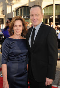 Robin Dearden and Bryan Cranston at the California premiere of
