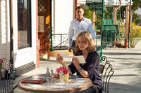 Grant Bowler as Henry Rearden and Taylor Schilling as Dagny Taggart in