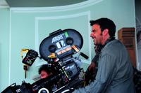 Director Francois Ozon on the set of