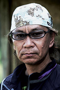 Director Takashi Miike on the set of