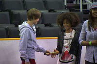 Justin Bieber with Jaden Smith in