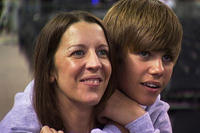 Justin Bieber with mom Pattie Mallette in