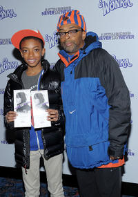 Jackson Lee and director Spike Lee at the New York premiere of