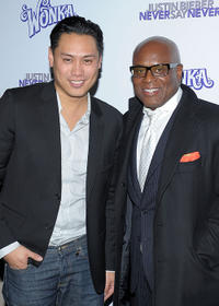 Director Jon M. Chu and producer LA Reid at the New York premiere of