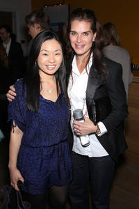 Jewelry Designer Alex Woo and Brooke Shields at the New York premiere of