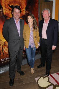 Director Alastair Fothergill, Keri Russell and Director Keith Scholey at the New York premiere of
