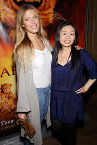 Veronica Varekova and Jewelry Designer Alex Woo at the New York premiere of