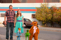 Jason Segel as Gary, Amy Adams as Mary, Walter, Kermit and Fozzie Bear in