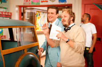 Jason Segel and director James Bobin on the set of