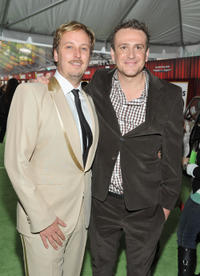 Director James Bobin and Jason Segel at the California premiere of