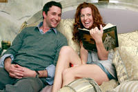 Noah Wyle and Tanna Frederick in