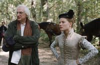 Director Bertrand Tavernier and Melanie Thierry on the set of