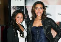 Vanessa Morgan and Annie Ilonzeh at the California premiere of
