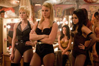 Jena Malone as Rocket, Abbie Cornish as Sweet Pea and Vanessa Hudgens as Blondie in