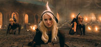 Jena Malone as Rocket, Emily Browning as Babydoll and Abbie Cornish as Sweet Pea in