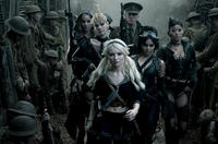 Abbie Cornish as Sweet Pea, Jena Malone as Rocket, Emily Browning as Babydoll, Scott Glenn as Wise Man, Vanessa Hudgens as Blondie and Jamie Chung as Amber in