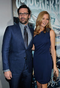 Jon Hamm and Jennifer Westfeldt at the California premiere of