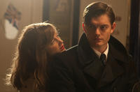 Andrea Riseborough as Rose and Sam Riley as Pinkie in