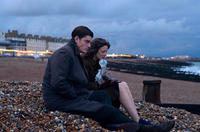 Sam Riley as Pinkie and Andrea Riseborough as Rose in
