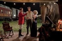 Christoph Waltz as August, Robert Pattinson as Jacob, Reese Witherspoon as Marlena and Rosie the elephant in